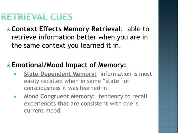 Retrieval Cues