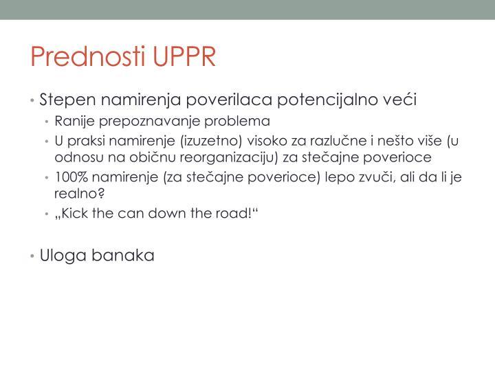 Prednosti UPPR