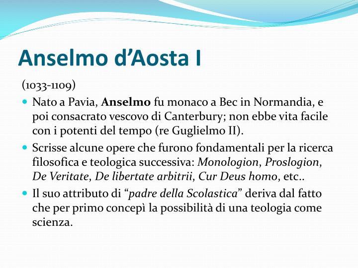 Anselmo d'Aosta I