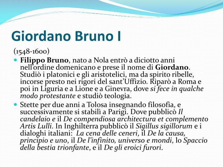 Giordano Bruno I