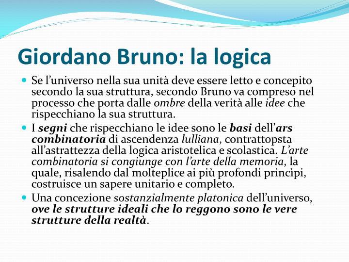 Giordano Bruno: la logica