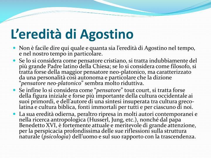 L'eredità di Agostino