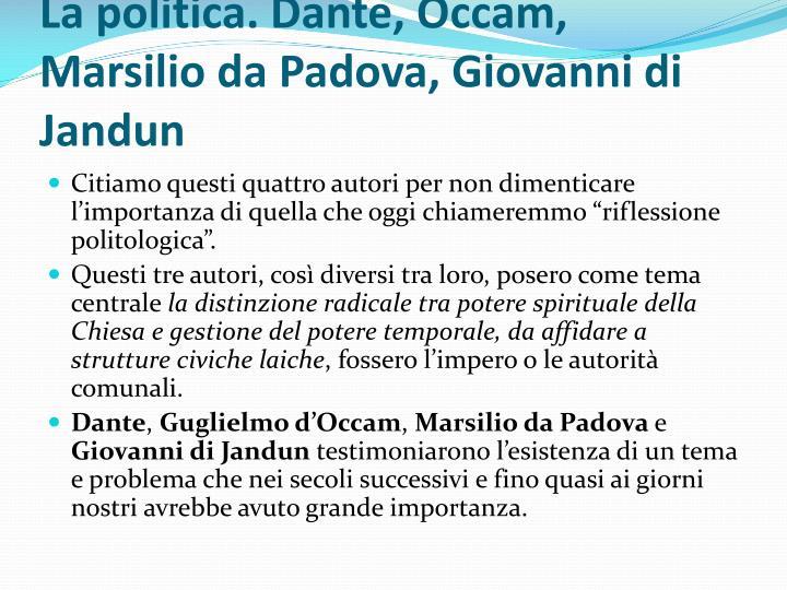 La politica. Dante,