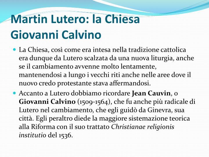 Martin Lutero: la Chiesa