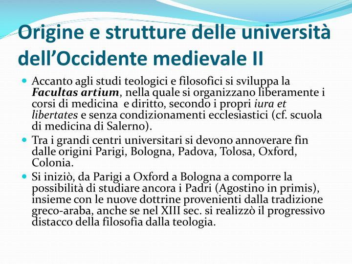 Origine e strutture delle università dell'Occidente medievale