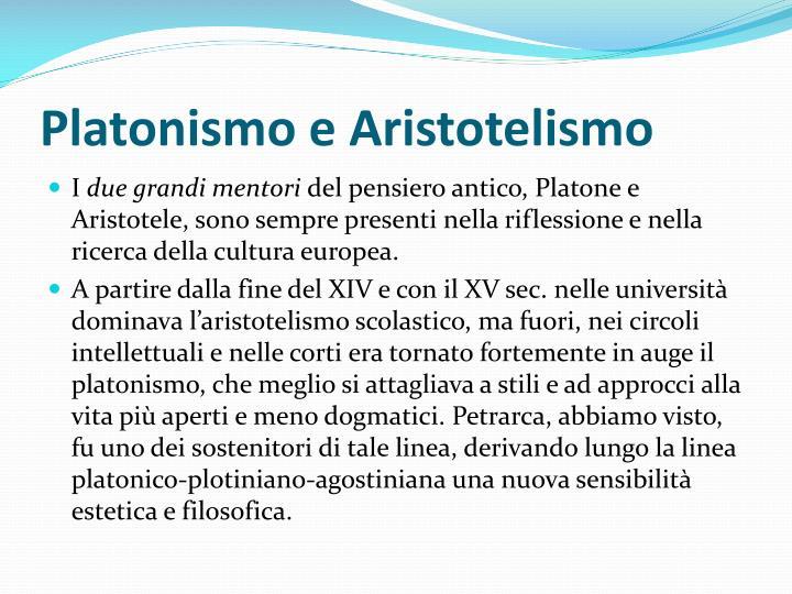 Platonismo e Aristotelismo
