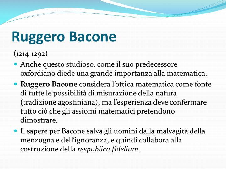 Ruggero Bacone
