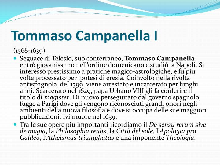 Tommaso Campanella I