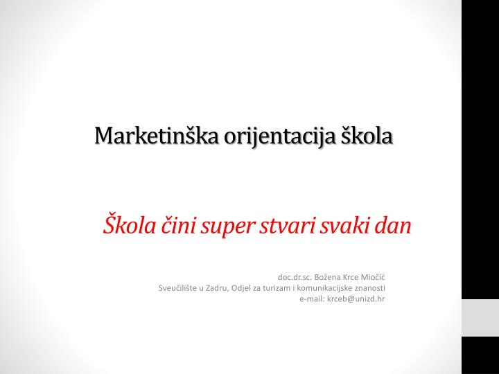Marketinška orijentacija škola