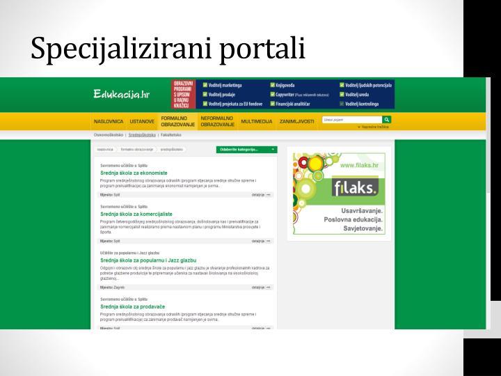 Specijalizirani portali