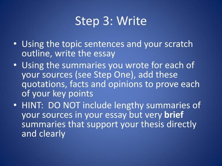 Step 3: Write