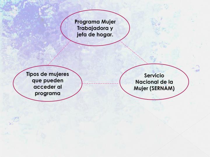 Programa Mujer Trabajadora y jefa de hogar.