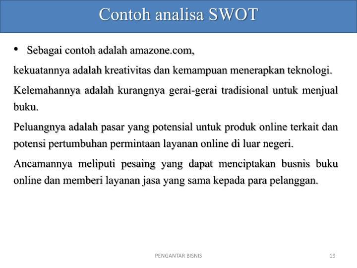 Contoh analisa SWOT