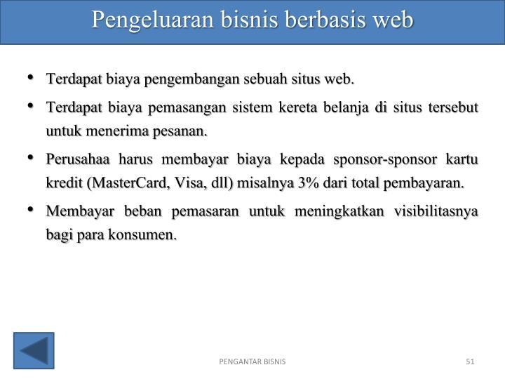 Pengeluaran bisnis berbasis web