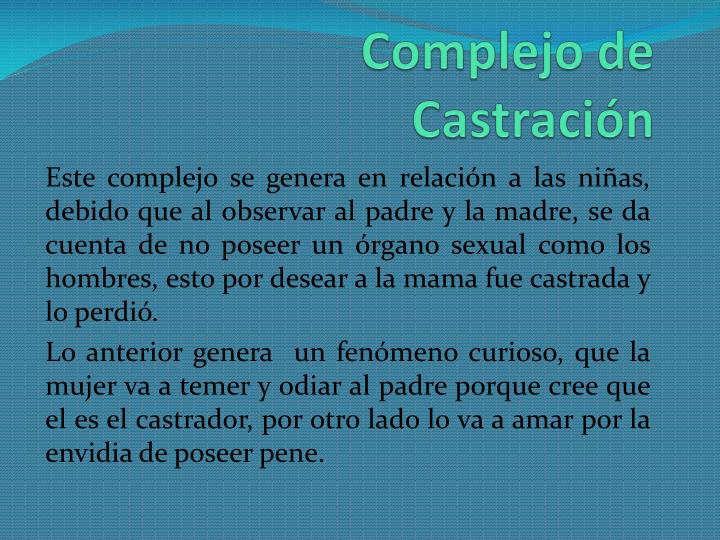 Complejo de Castración