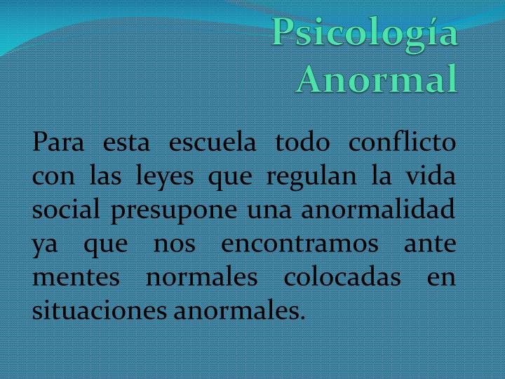 Psicología Anormal
