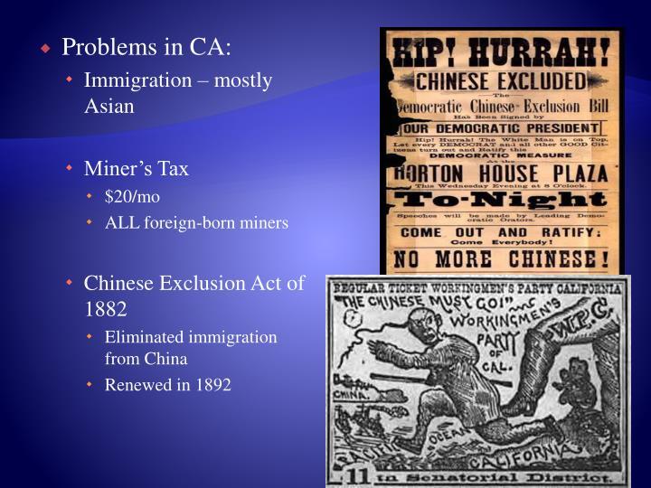 Problems in CA: