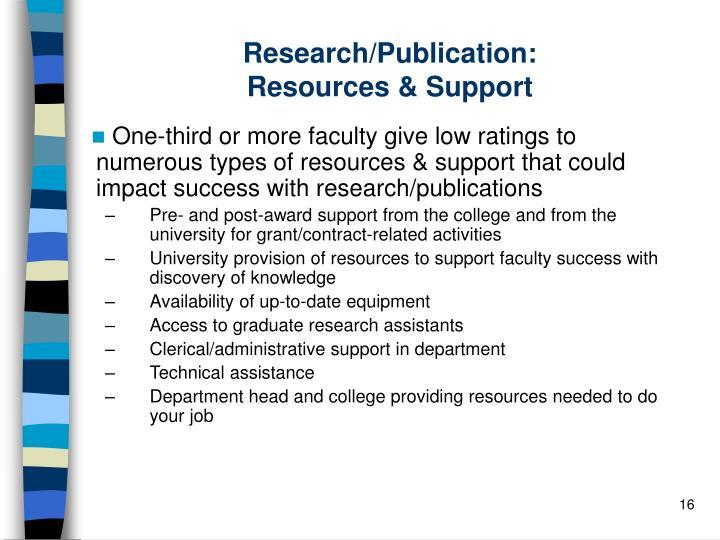Research/Publication: