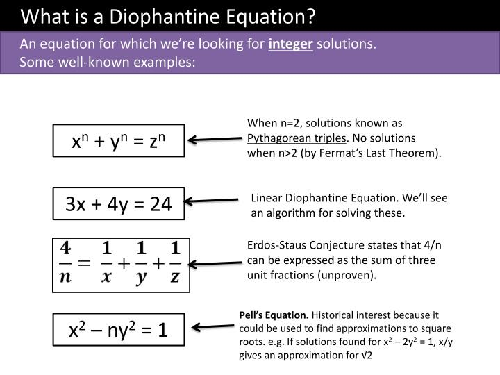 What is a Diophantine Equation?