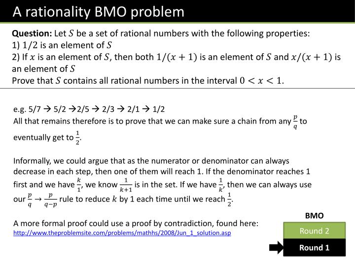 A rationality BMO problem