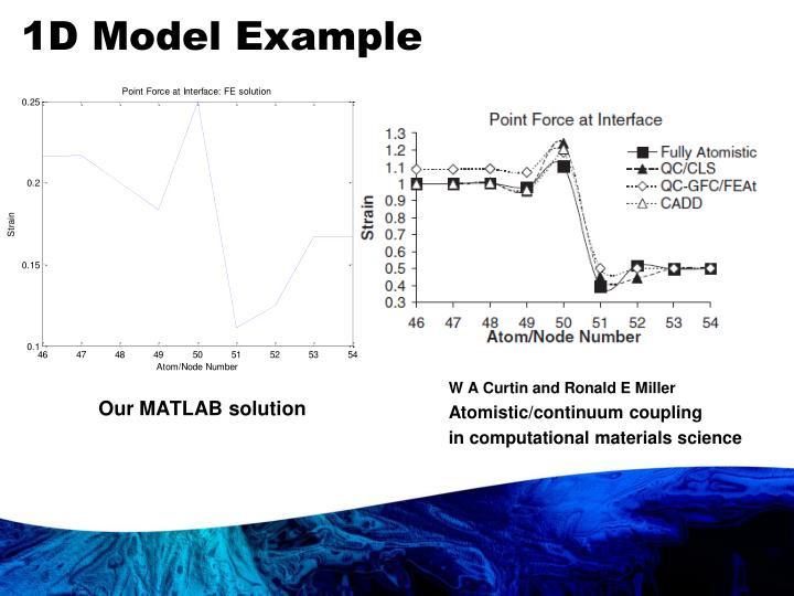 1D Model Example