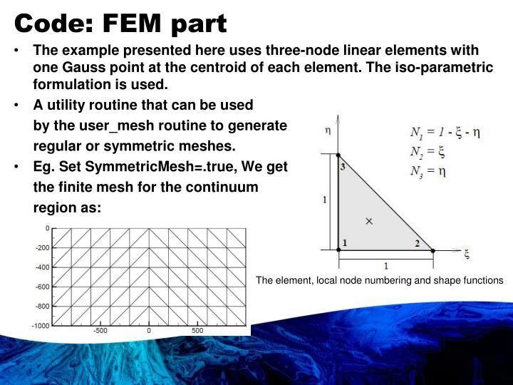 Code: FEM part
