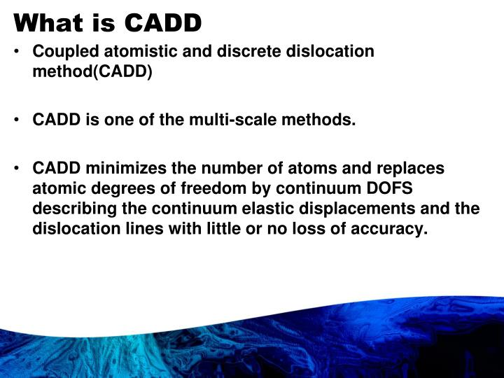 What is CADD