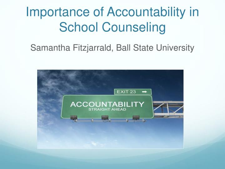 importance or accountability in the us