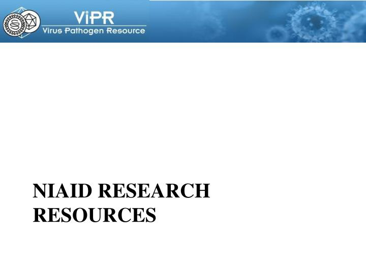 Niaid research resources