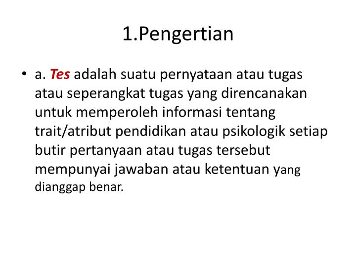 1.Pengertian