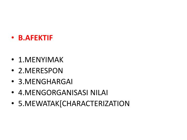B.AFEKTIF