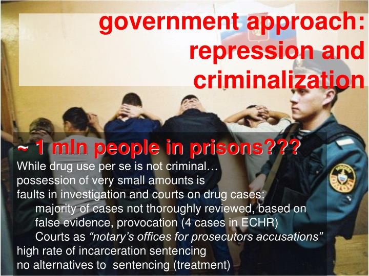 Government approach repression and criminalization