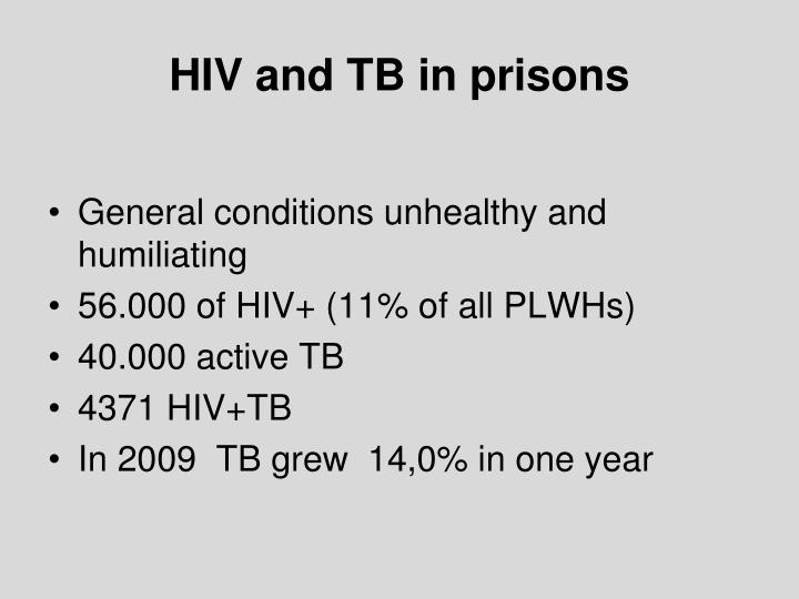 HIV and TB in prisons