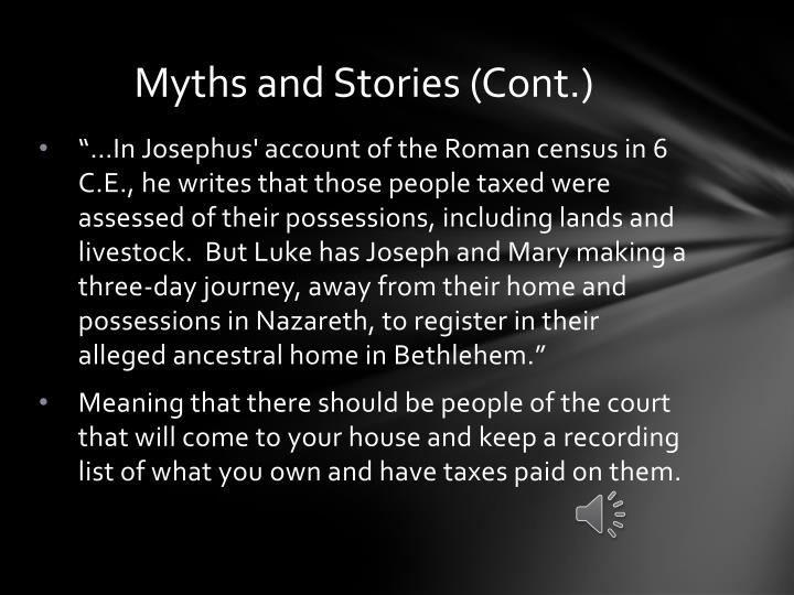 Myths and Stories (Cont.)