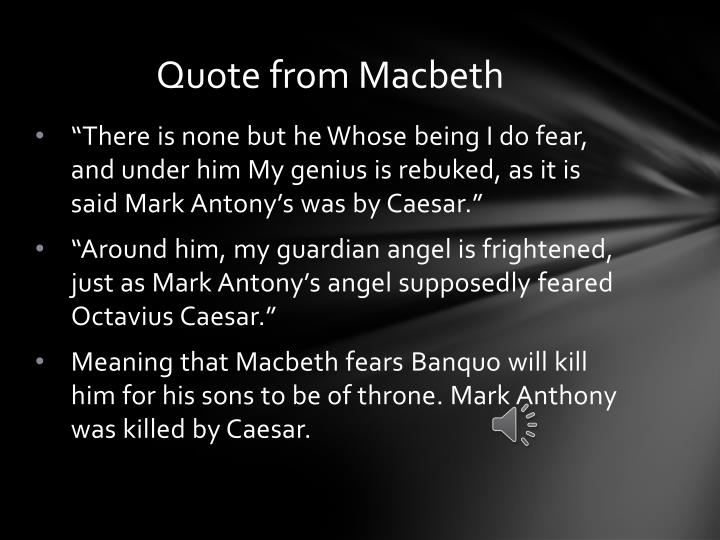 Quote from Macbeth
