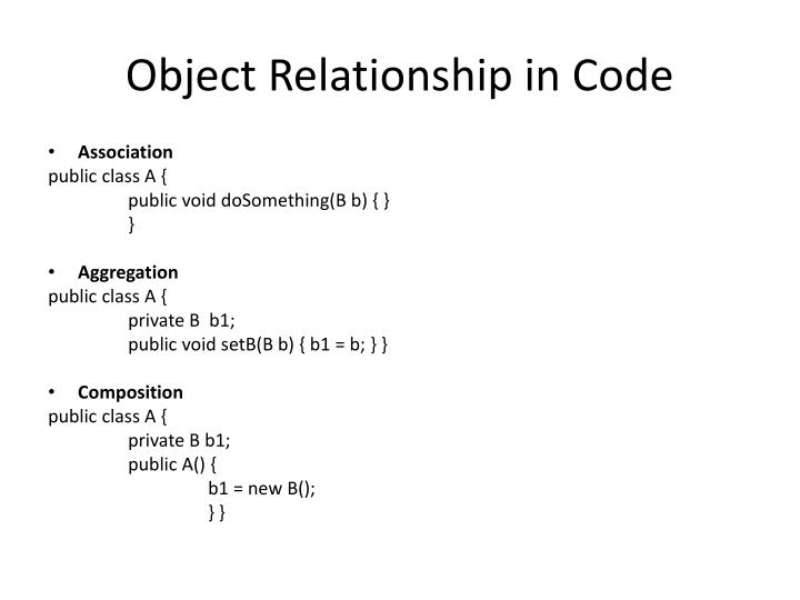 Object Relationship in Code