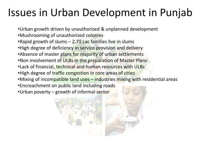 Issues in Urban Development in Punjab