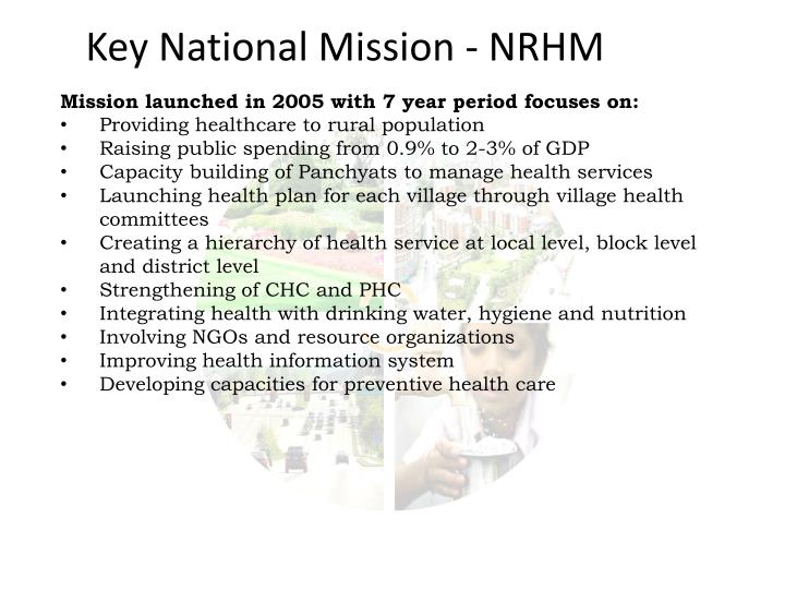 Key National Mission - NRHM
