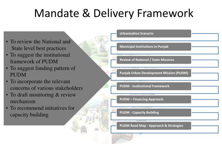 Mandate & Delivery Framework