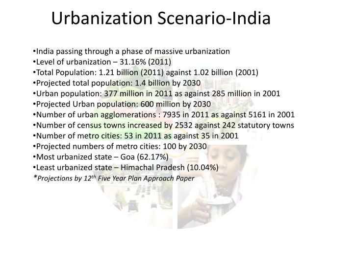 Urbanization Scenario-India