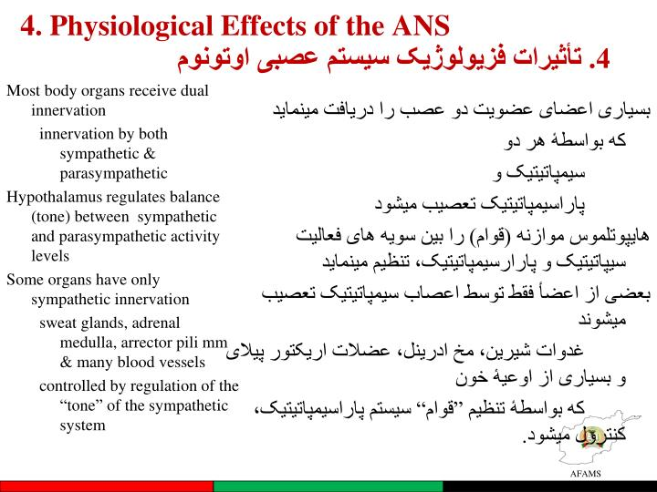 4. Physiological Effects of the ANS