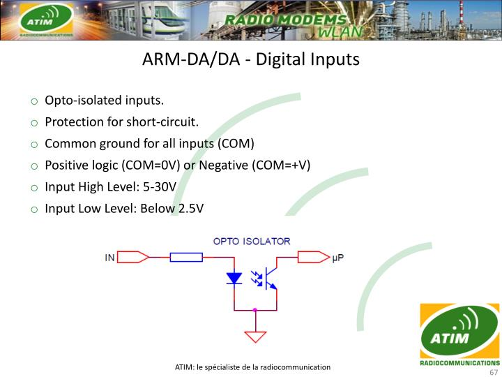 ARM-DA/DA - Digital Inputs