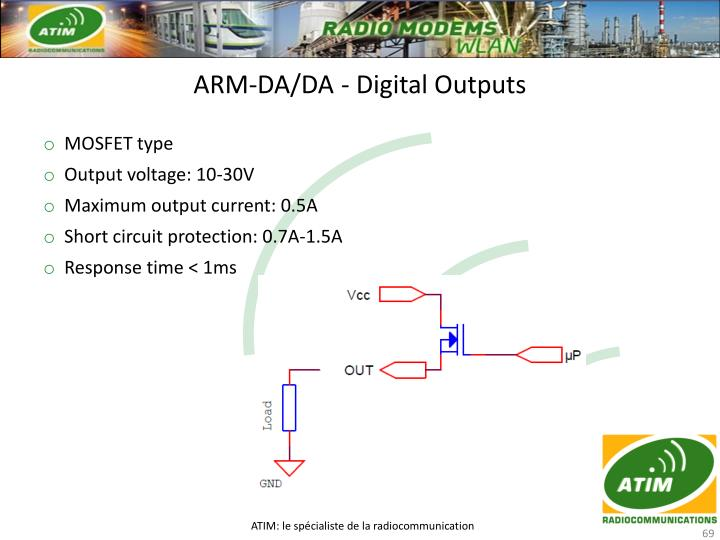ARM-DA/DA - Digital Outputs