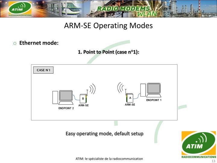ARM-SE Operating Modes