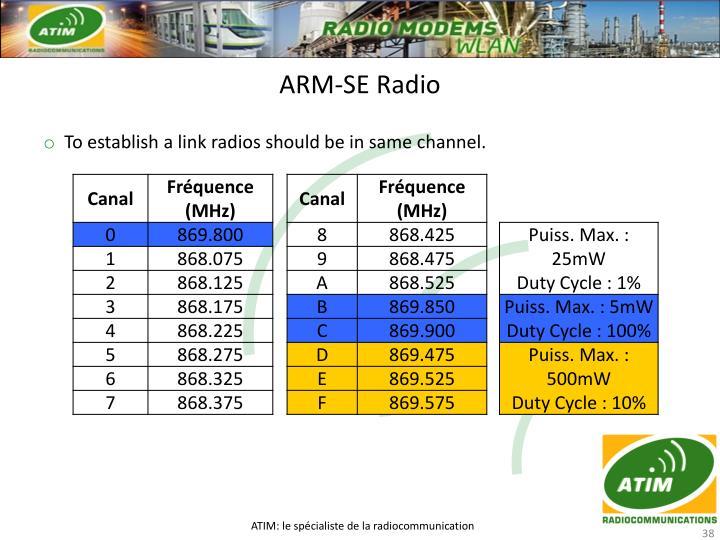 ARM-SE Radio