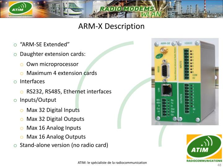 ARM-X Description