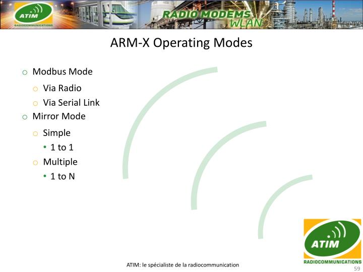 ARM-X Operating Modes