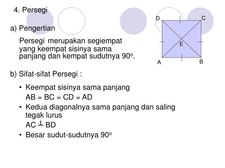 4. Persegi