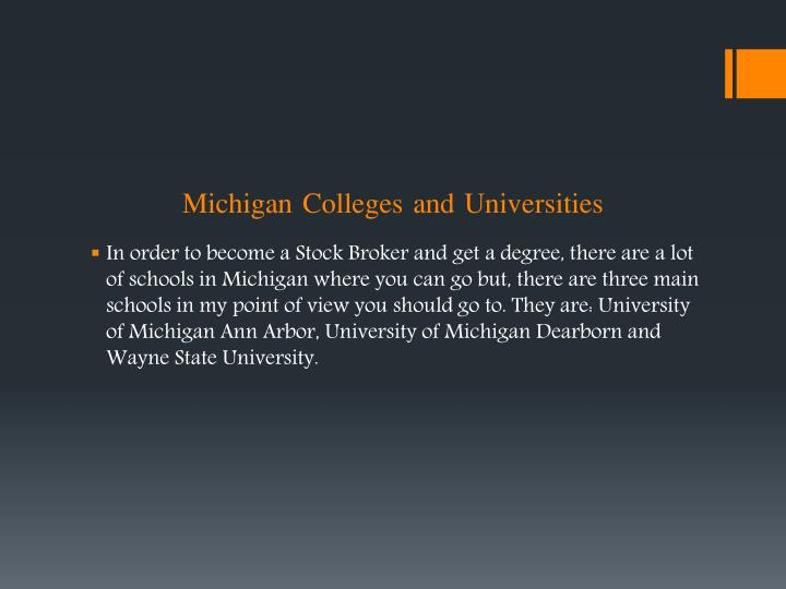 Michigan Colleges and Universities