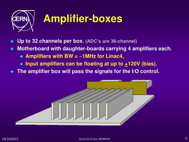 Amplifier-boxes